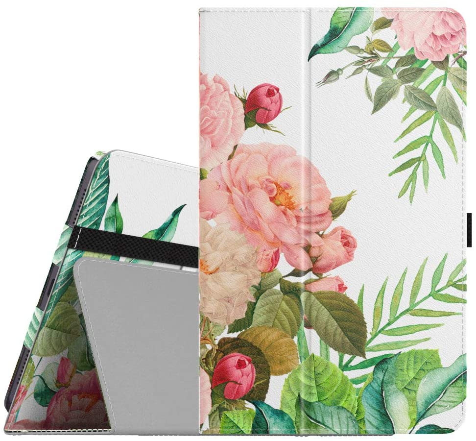 Dadanism Folio Case Compatible with Galaxy Tab A 8.4 2020 Tablet SM-T307 (Verizon/T-Mobile), Convertible Stand Cover Slim Shockproof Case with Stand fit Galaxy Tab A 8.4 Inch 2020 - Blooming Bouquet