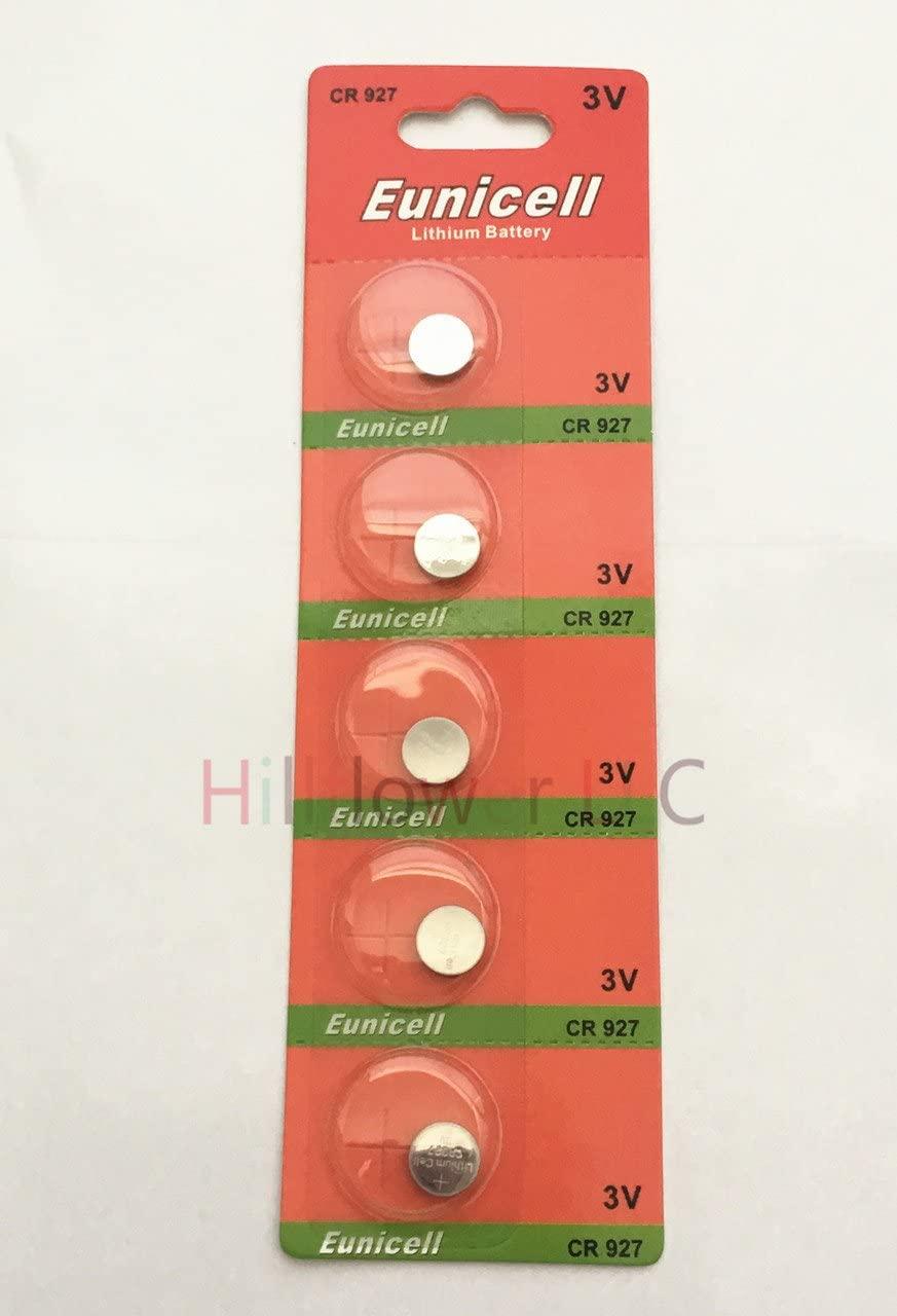 Hillflower 100 pcs CR927 Card Blister 927 BR927 3V Long Duration Lithium Battery with Hillflower Coupon