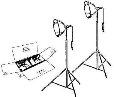 Samigon Deluxe Portable Studio Lighting Kit with 2 Lights