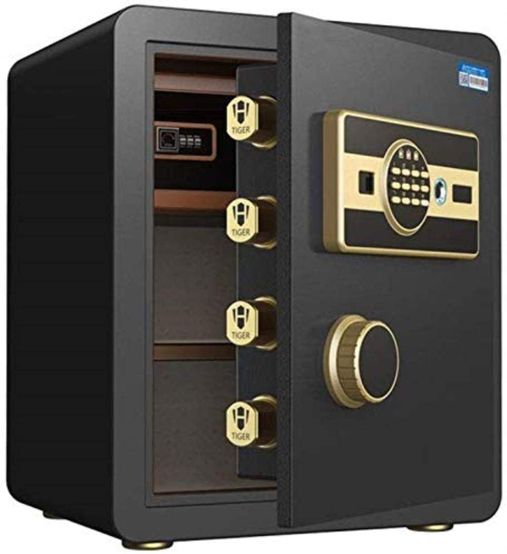 ZBY Safe Boxs Safe Box Electronic Safe, Cash Box, Home Safe, Lock Box, Digital Safe,Biometric Fingerprint Safe Password Safe Box Small Office Ideal for Families and Shops (Size : 25X25X30Cm),45X32X38
