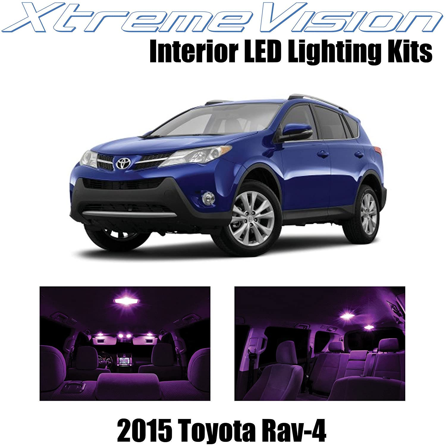 XtremeVision Interior LED for Toyota Rav4 2015+ (8 Pieces) Pink Interior LED Kit + Installation Tool