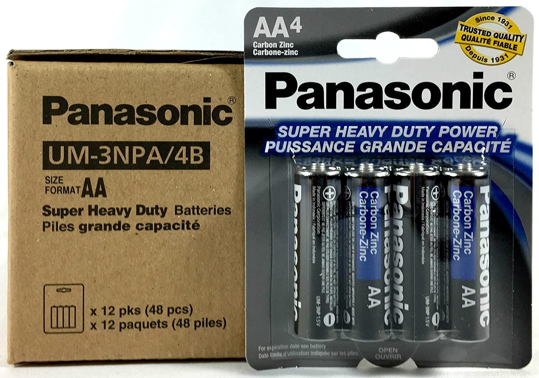 48pc Panasonic AA Batteries Super Heavy Duty Power Carbon Zinc Double A Battery 1.5v