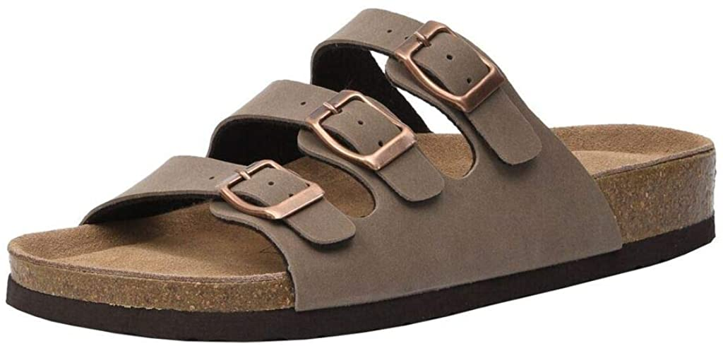 CUSHIONAIRE Womens Lela Cork Footbed Sandal with +Comfort