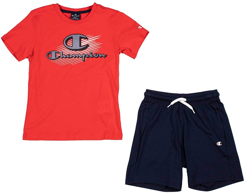 Champion Kids Clothing Set Boy Training Tshirt Short Sports Fashion 305217-RS033