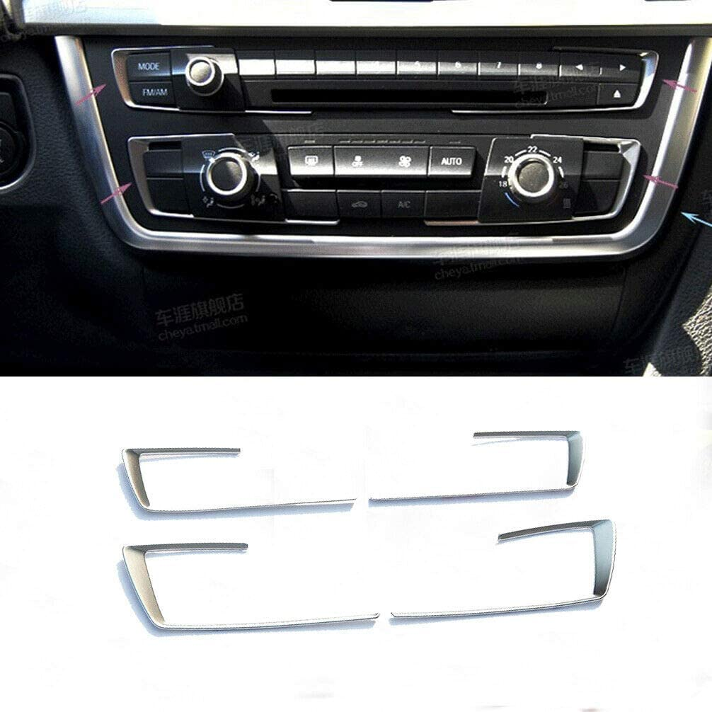 JC SPORTLINE Console Air Condition Button Frame for BMW 3Series F30 316i 320i 328i 2013-2019 Car Accessories