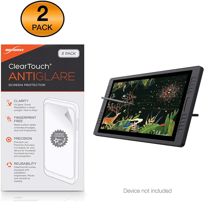Huion KAMVAS GT-221 Pro Screen Protector, BoxWave® [ClearTouch Anti-Glare (2-Pack)] Anti-Fingerprint Matte Film Skin for Huion KAMVAS GT-221 Pro
