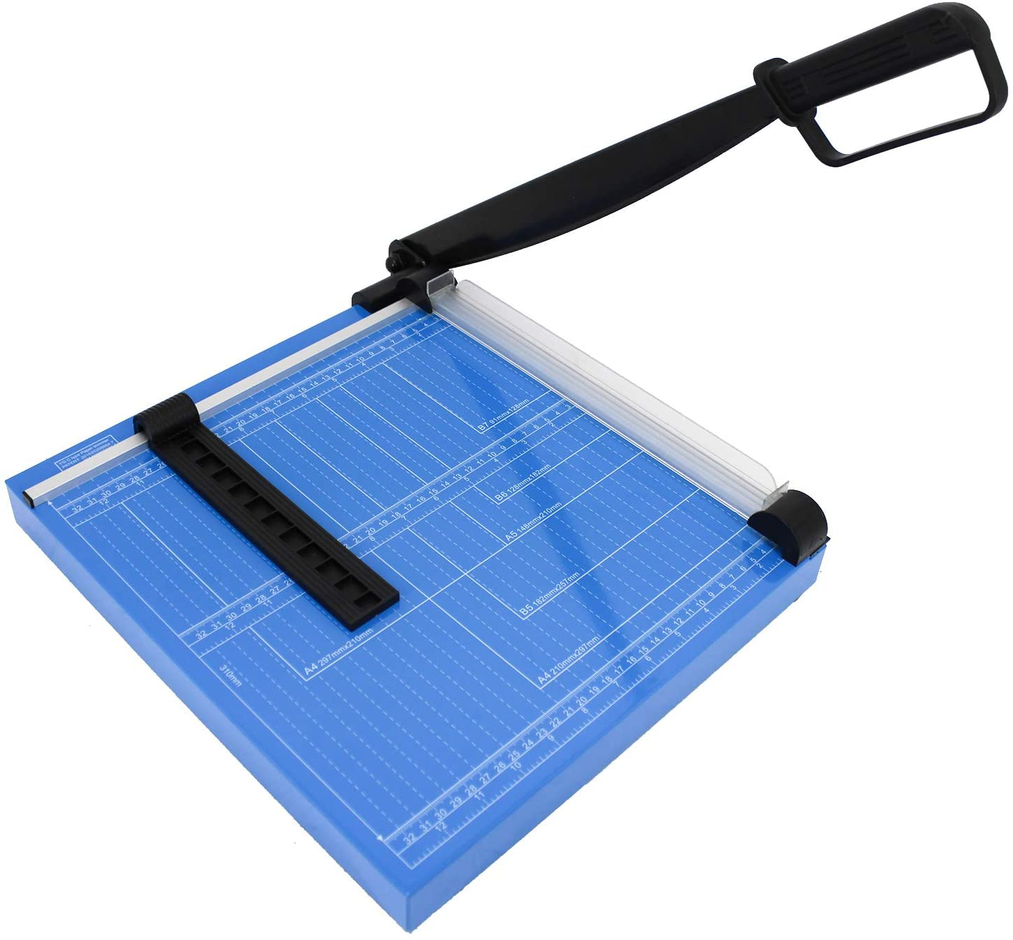 """HFS (R) 12"""" A4 Paper Cutter Multi-Purpose Trimmer for Copper Sheet, Leather, Plastic Sheet, Iron Sheet, Non-Woven Fabric 12 Sheets 80-Gram Paper Vinyl Cutter"""
