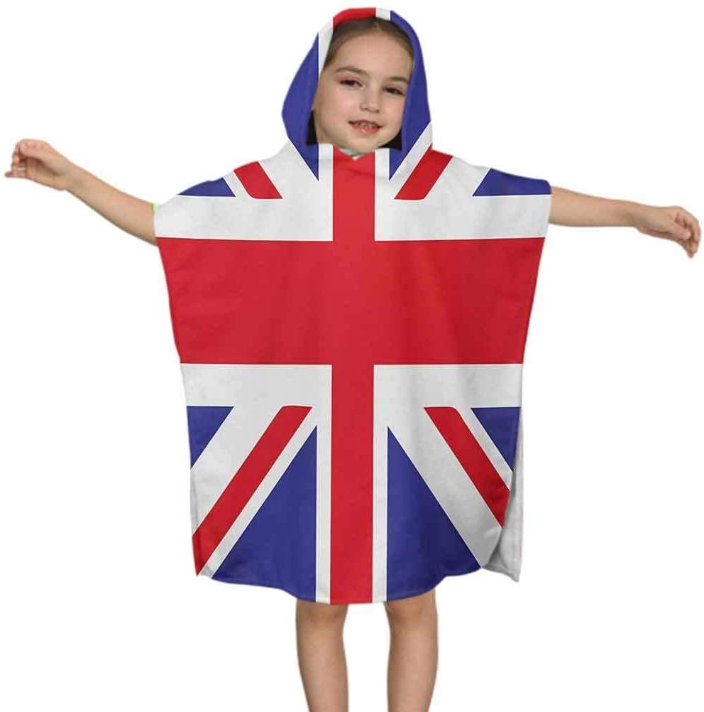 Ahuimin Union Jack Kid Beach Towel, Classic Traditional Flag United Kingdom Modern British Loyalty Symbol, 24