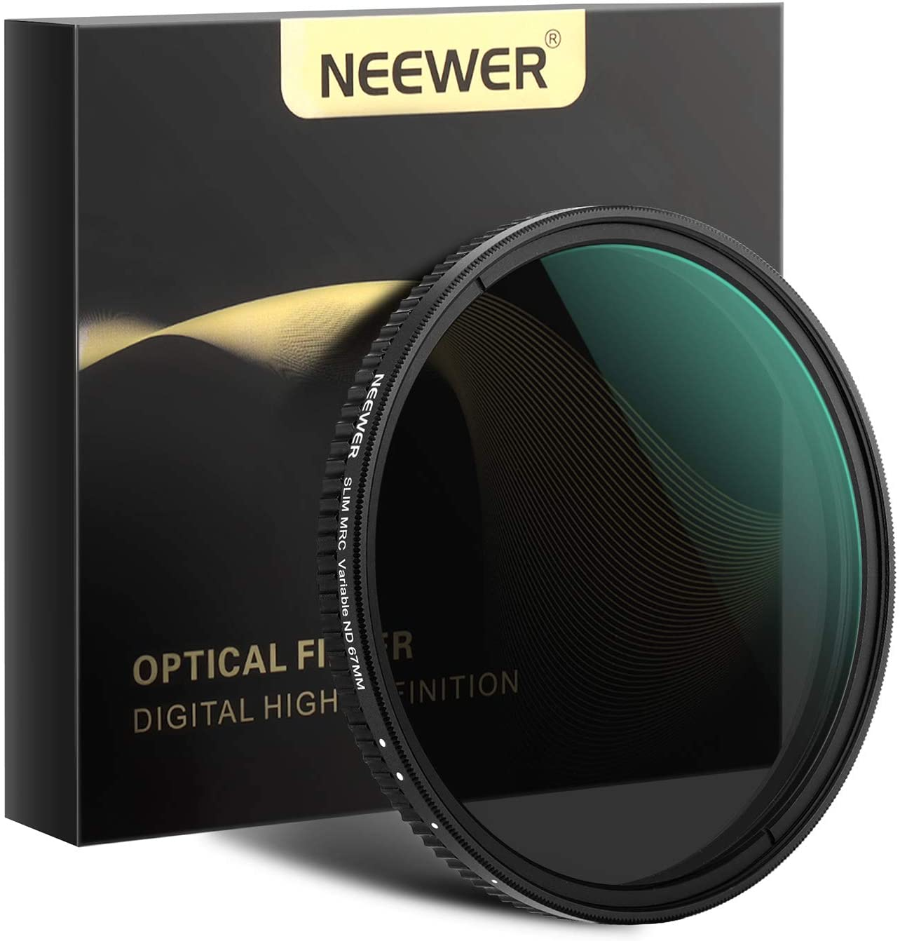 Neewer 67mm Variable Fader ND Filter Neutral Density Variable Filter ND2 to ND32 (1-5 Stop) for Camera Lens + No Black Cross + Multilayer Coating + Ultra-Thin Frame Design