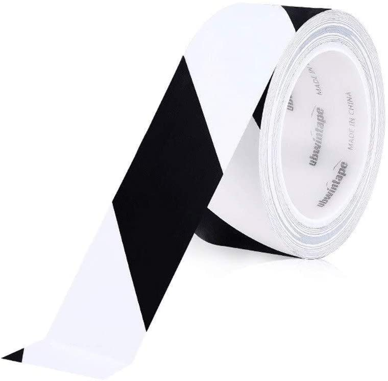 Warning Tape Reflective Tape Warning Landmark Stickers Ground Safety Tapes PVC Black Yellow Zebra Line 5S Logo Color Lined Floor Tape 0301