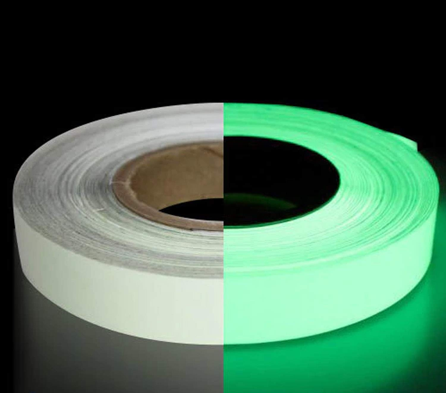 LifeKrafts Glow in The Dark Tape Sticker.(Size: 2cm20 Meter) Photo Luminescent to Mark Stairs, Exit Sign, Steps. Safety Tape.