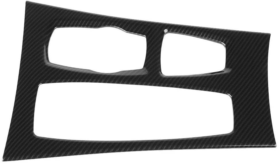 Senyar Car Gear Box Cover,Carbon Fiber Style Center Console Gear Box Panel Cover Trim for X5 X6 E70 E71 2008-2014