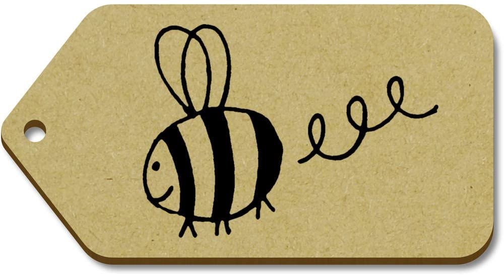 10 x Large 'Bee in Flight' Wooden Gift Tags (TG00010686)