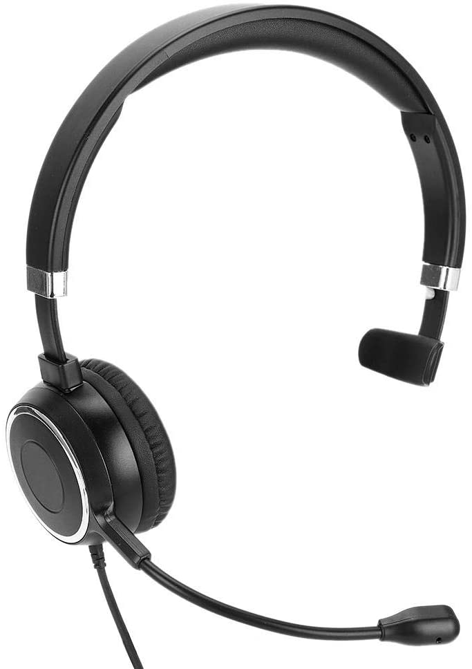 Plyisty Communication Headset, Clear Chat Designed Headset, Computer Headset, Noise Reduction USB Wire Control for Online Teaching, for Office, for Computer,