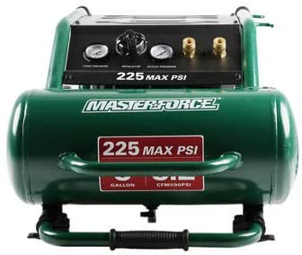 Masterforce 5-Gallon 225 PSI Portable Electric Horizontal Air Compressor