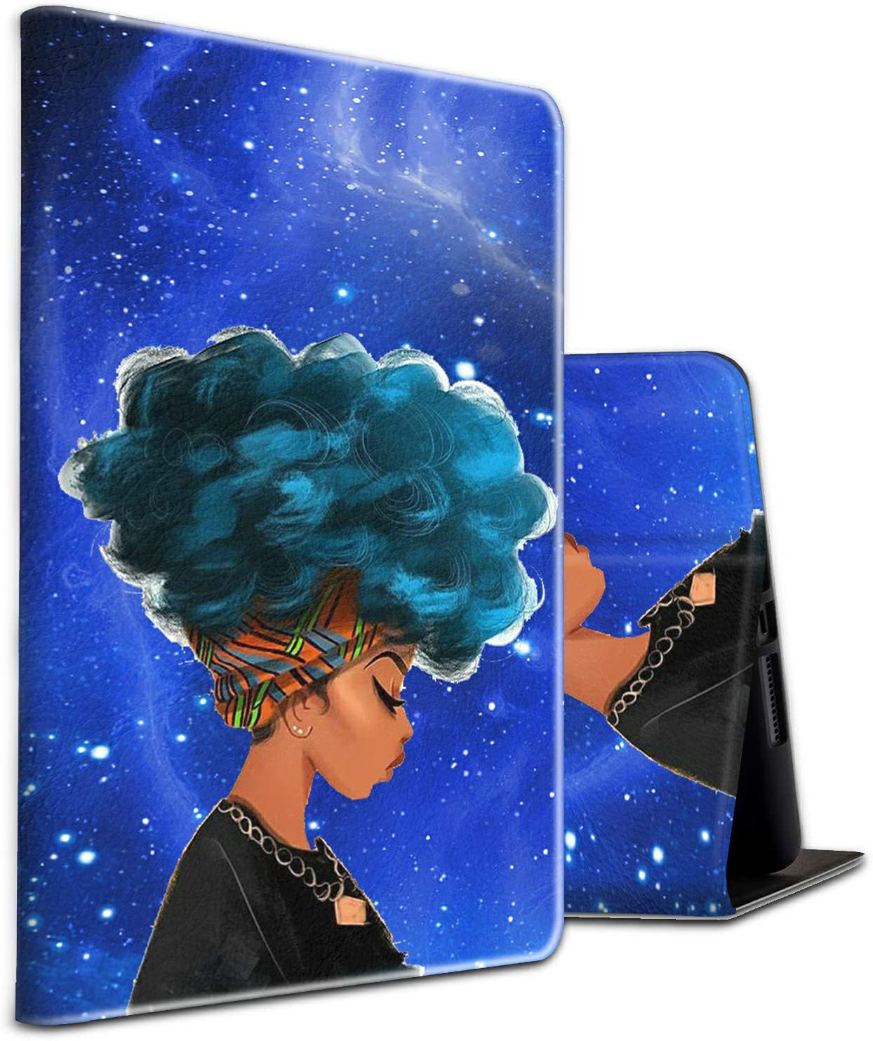 for Samsung Tab A 10.1 Case 2019,Skyfree SM-T510/ T515 Shockproof Folding Stand Cover with Auto Wake/Sleep for Galaxy Tab A 10.1 2019,African American Girls