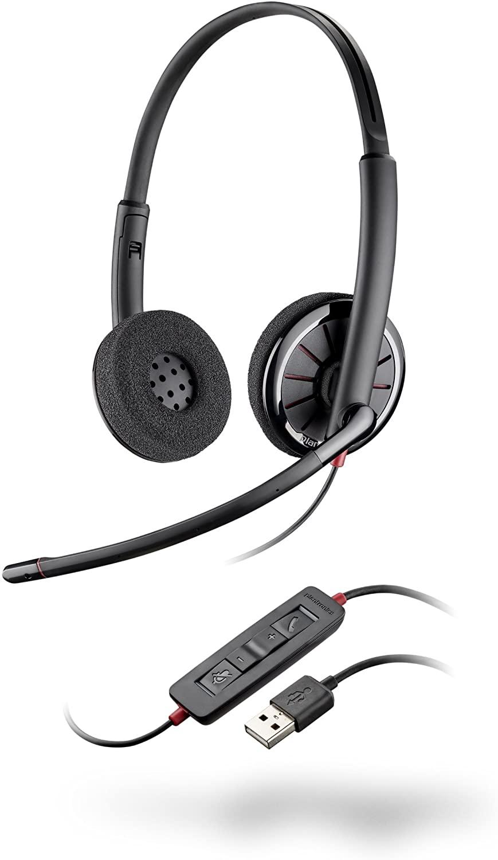 Plantronics 85619-102 Blackwire C320 Binaural USB Headset (Renewed)