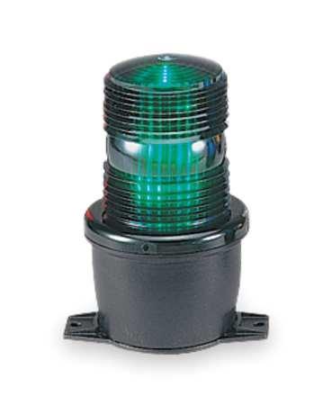 Federal Signal Low Profile Warning Light LED Green 120V