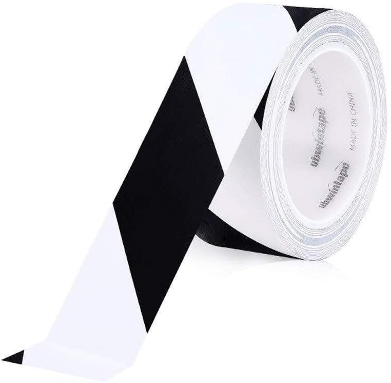 Xi chen Hazardous Area Decoration Tape,Warning Reflective Tape Safety Tapes 45 Mm Wide X 33 M Long PVC Environmentally-Friendly Glue 7.3