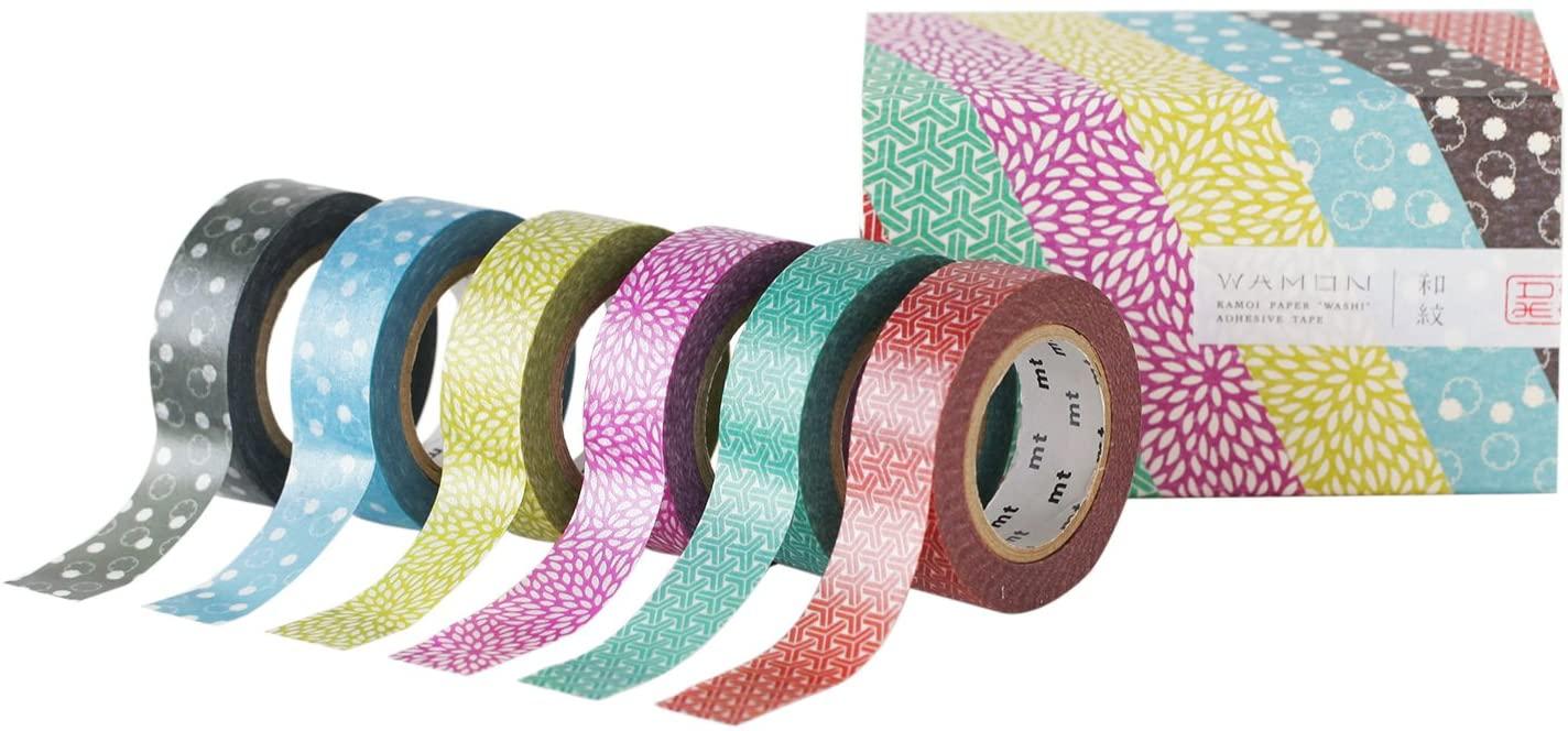 MT MT06P004Z Wamon4 Washi Masking Tape Roll (Pack of 6)