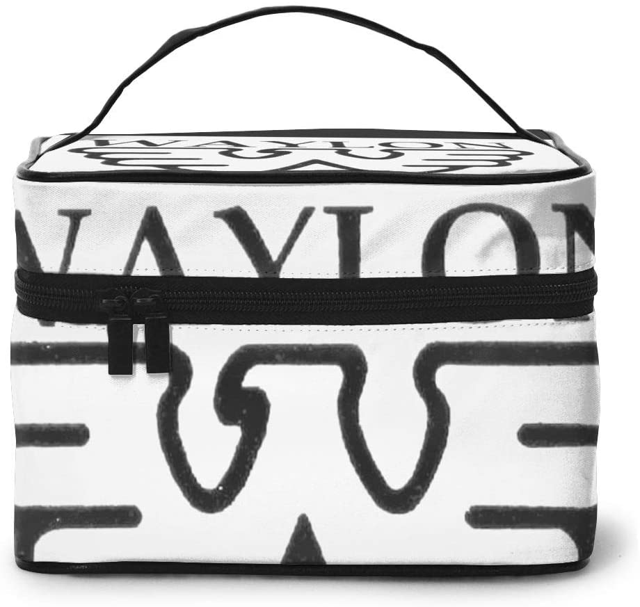 Wehoiweh Waylon Jennings 9x6.5x6.2 Inches (Length X Width X Height) Large-Capacity Makeup Cosmetics Storage Bag Protection Bag Can Help You Maintain Beautiful Appearance Anytime, Anywhere