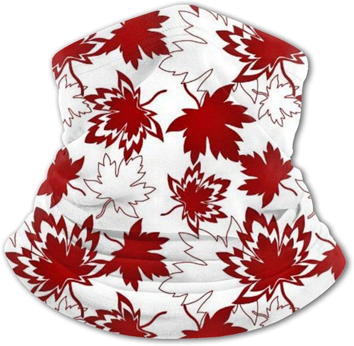 Canada Maple Headwear For Girls And Boys, Head Wrap, Neck Gaiter, Headband, Tenn Fishing Mask, Magic Scarf, Tube Mask, Face Bandana Mask For Camping Running Cycling