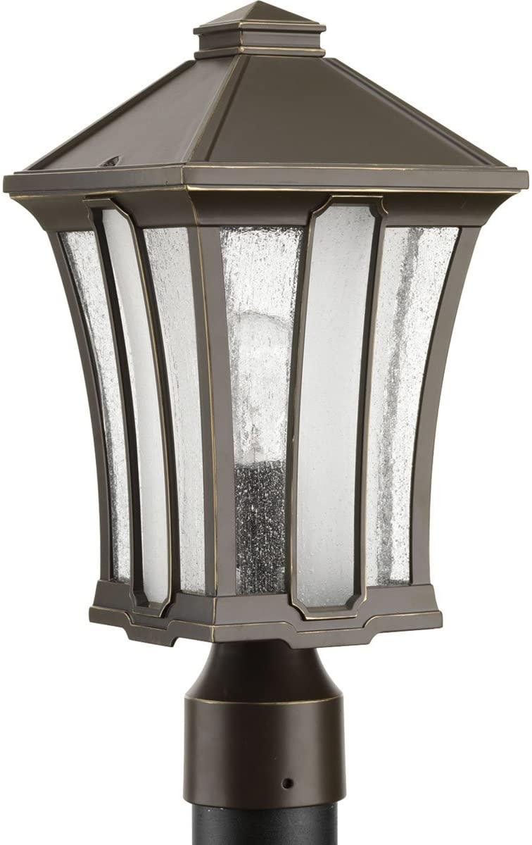 Progress Lighting P540000-020 Twain One-Light Post Lantern, Antique Bronze