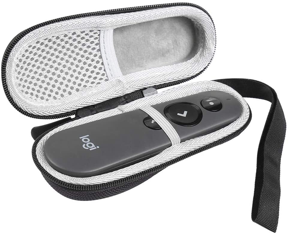 Travel Hard EVA Protective Case Compatible with Logitech Wireless Professional Presenter R500 Carrying Pouch Cover Bag Compact Sizes
