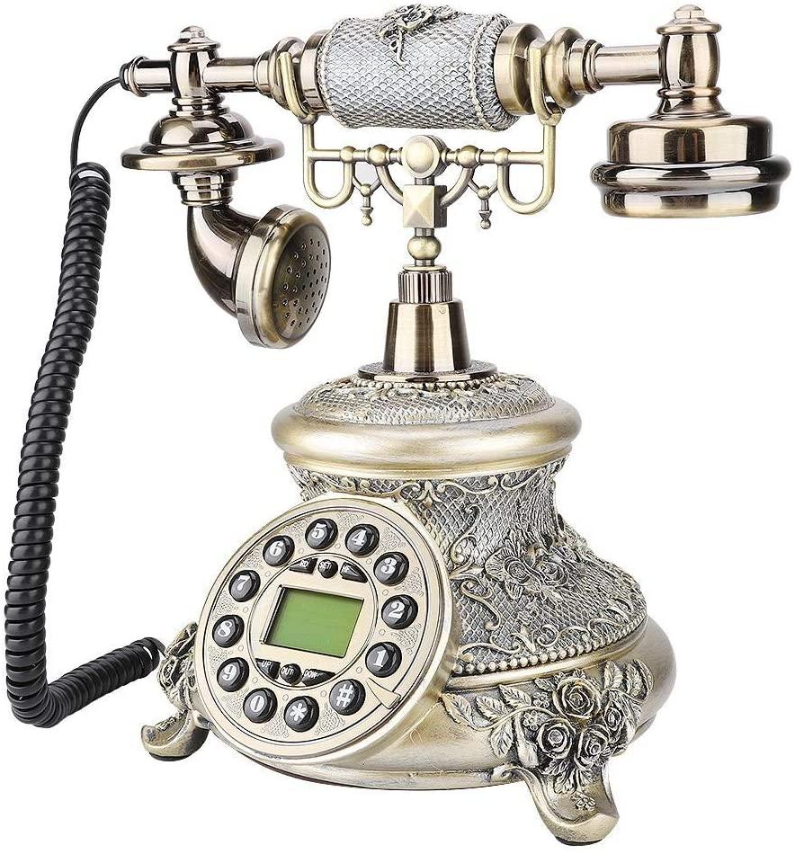 Hakeeta Telephone Landline, MS-5700D European Retro Style Desktop Landline, As a Home Office Phone.