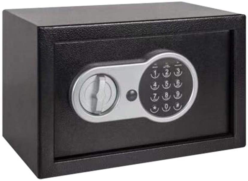 PUEEPDEE Safe Box Digital Safe-Electronic Safe Box with Electronic Keypad for Jewellery Money Safe Box for Money (Color : Black, Size : 31x20x20cm)
