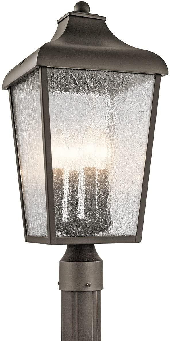 Kichler 49739OZ Forestdale Outdoor Post, 4 Light Incandescent 240 Total Watts, Olde Bronze