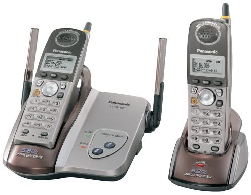Panasonic KX-TG5422M 5.8 GHz DSS Cordless Phone with Dual Handsets