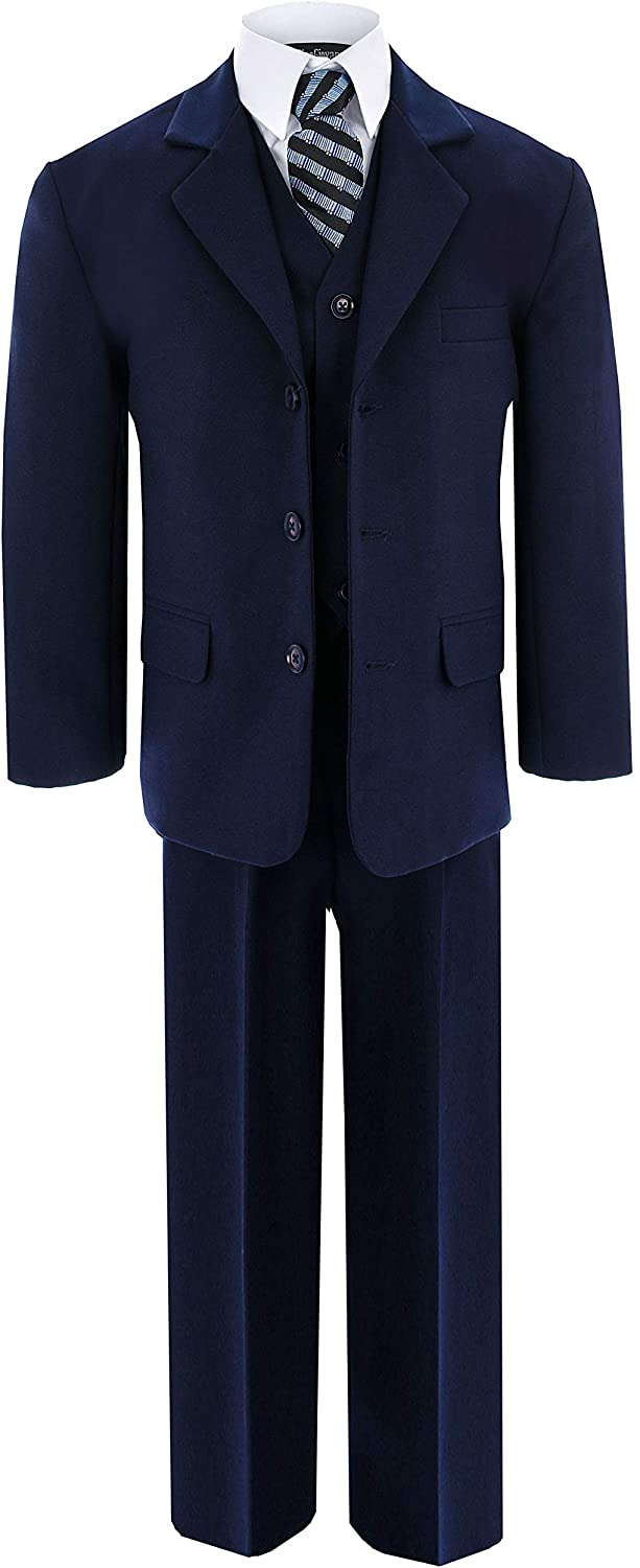 Gino Giovanni Little Boys Formal Dresswear Suit G230 (4T, Navy)