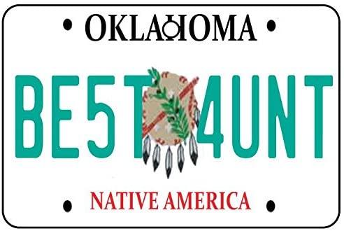 Oklahoma - Best Aunt License Plate Car Air Freshener
