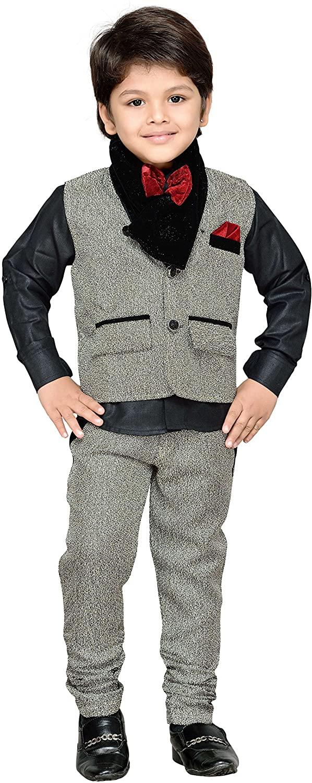 AJ DEZINES Kids Indian wear Bollywood Style Shirt Waistcoat and Pant Clothing Set for Boys