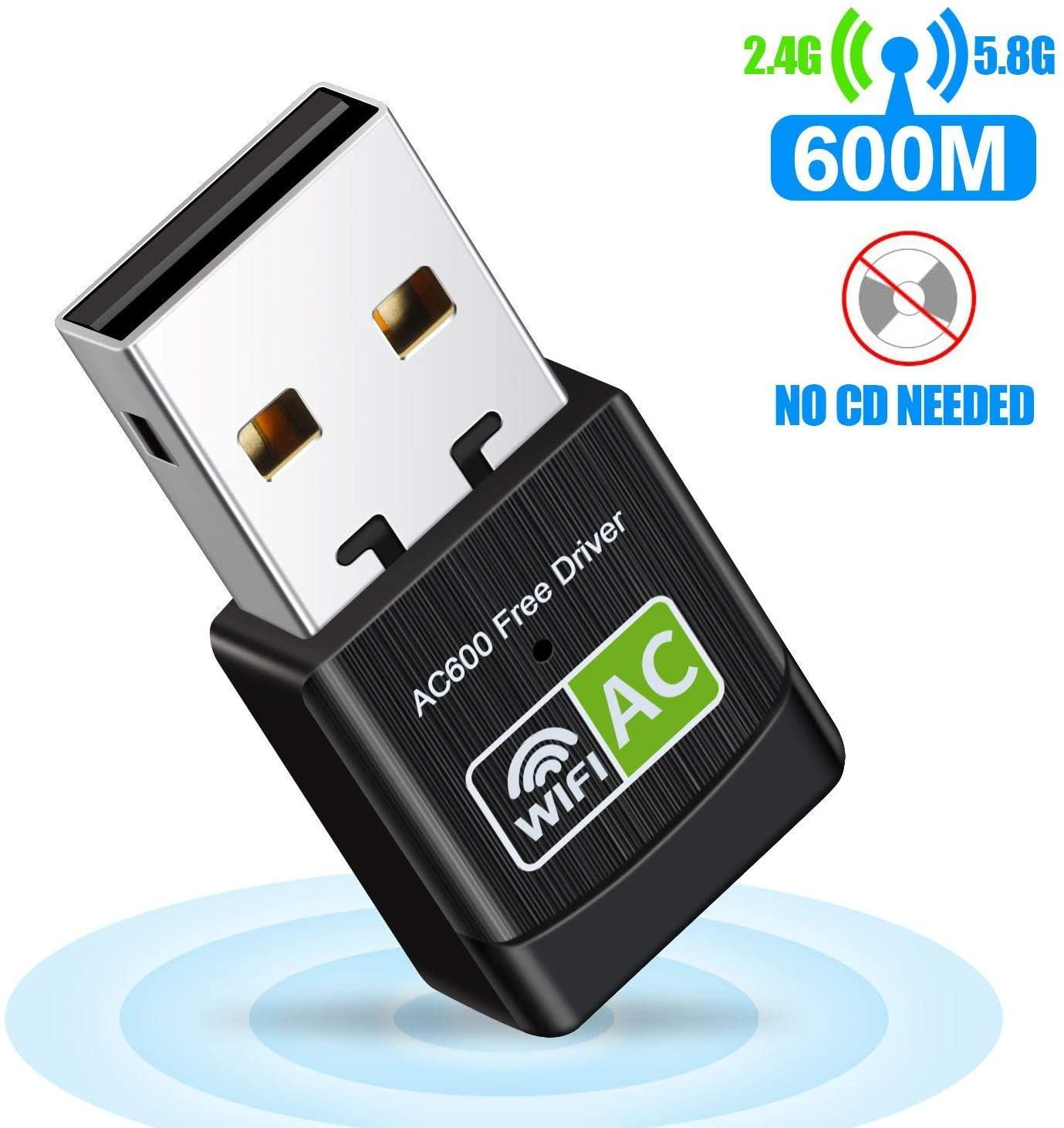 WiFi Dongle,USB WiFi Adapter USB Ethernet WiFi Dongle 600Mbps 5Ghz LAN USB Wi-Fi Adapter PC Antena Wi Fi Receiver AC Wireless Network Card
