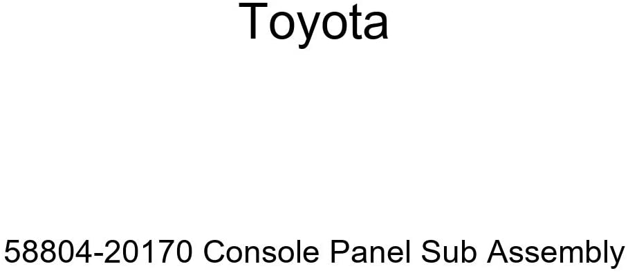 TOYOTA Genuine 58804-20170 Console Panel Sub Assembly