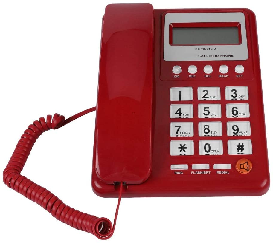 Red Corded Telephone, Dual Mode ABS Landline Phone, Home Phone, Telephone, for Hotel for Home