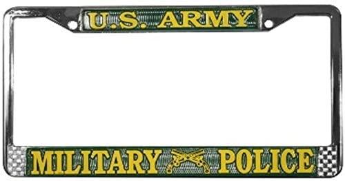 US Army Military Police License Plate Frame (Chrome Metal)