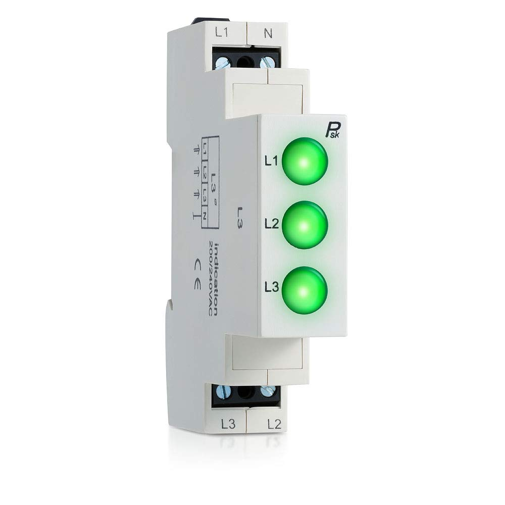 L3 LED Modular Power 3 Phase LED Indicator Lights Lamp Green