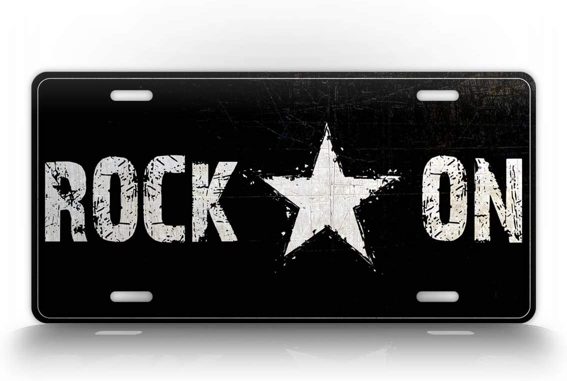 SignsAndTagsOnline Customized Rockstar Styled License Plate Textured Rock On Auto Tag