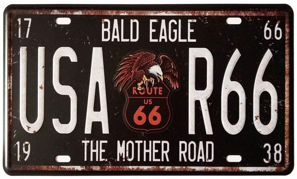 Vintage Bald Eagle Metal Sign for Home Garage Bar Decor 12