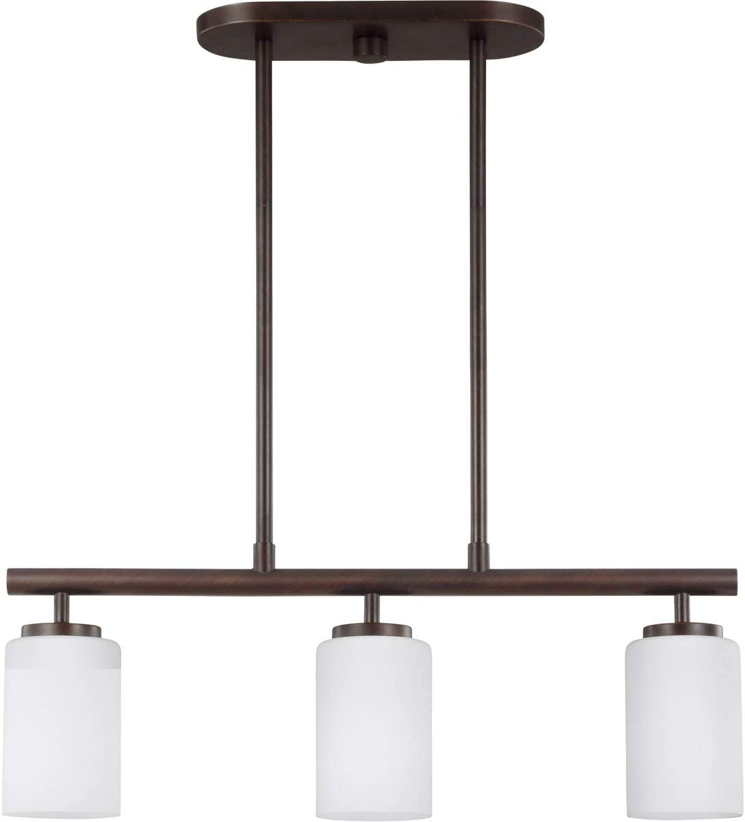 Sea Gull 66160-710 Oslo Pendant, 3-Light 300 Total Watts, Burnt Sienna