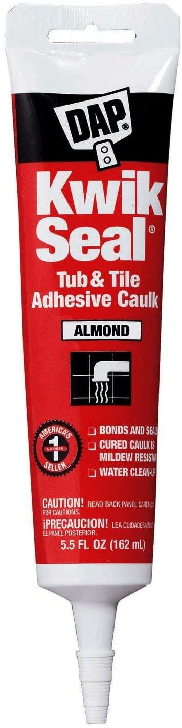 Dap 18013 12 Pack 5.5 oz. Kwik Seal Kitchen and Bath Adhesive Caulk, Almond