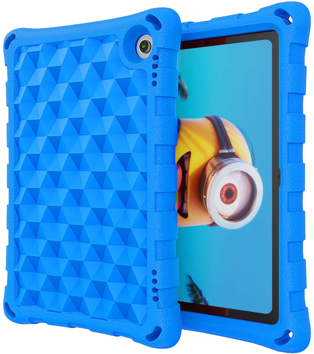 DJ&RPPQ Anti Slip Shockproof Light Weight Protective Case [Kids Friendly],All-New Tablet 8'' Case (Compatible with 10th Generation Tablets, 2020 Releases) - Blue