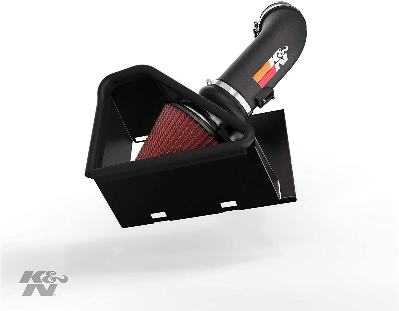 K&N Cold Air Intake Kit: High Performance, Guaranteed to Increase Horsepower: 2014-2018 Dodge Ram (2500, 3500) 6.4L V8, 77-1568KTK