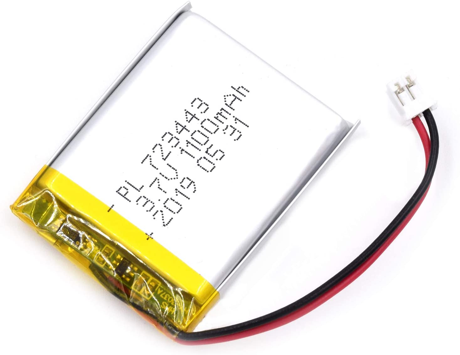 AKZYTUE 3.7V 1100mAh 723443 Lipo Battery Rechargeable Lithium Polymer ion Battery Pack with JST Connector
