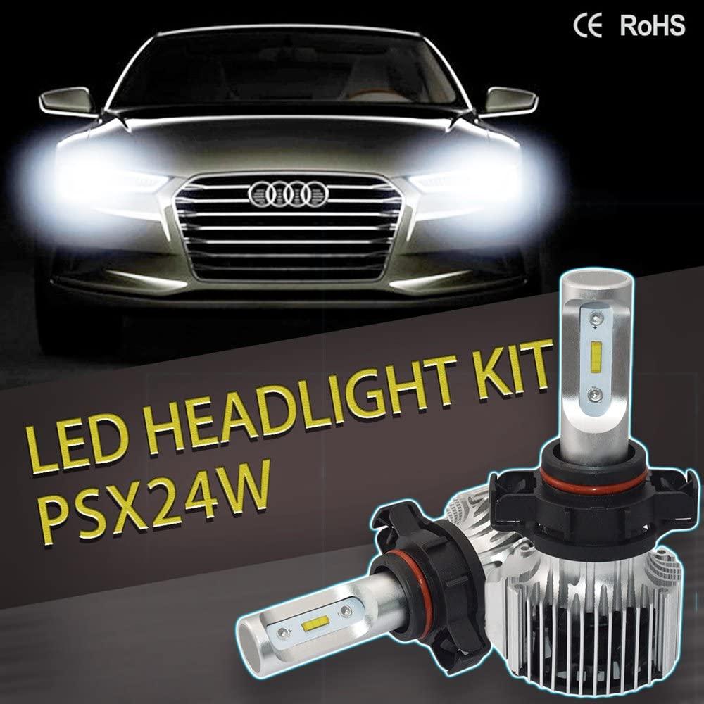 KATUR PSX24W LED Headlight Bulb, 36W 6000K 8000Lumens IP67 Waterproof Flip Chips Headlight Conversion Kit - 3 Yr Warranty