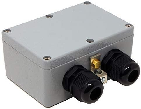Waterproof Ethernet Surge Protector PoE+ Gigabit - GDT Gas Discharge Tube - RJ45 Lightning Suppressor - LAN Network CAT5/CAT6 Thunder Arrestor - GbE 1000 Mbps - Weather/Water Resistant - Tupavco TP306