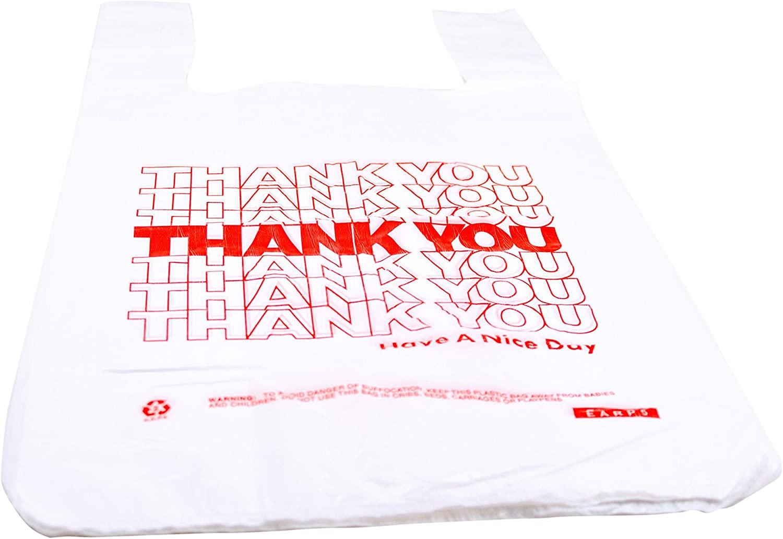 Rofson Poly T-Shirt Bag W/Thank You Print, 12